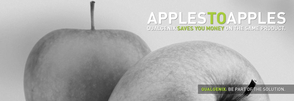 Apples to apples, Qualgenix saves you money on the same product.